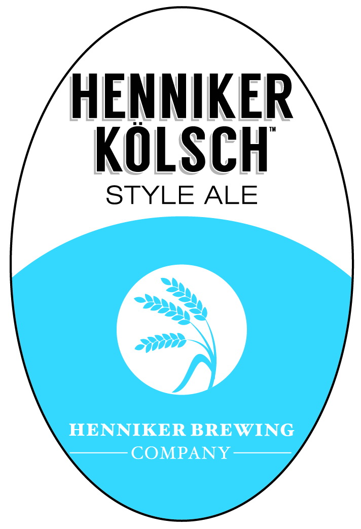 Henniker Kolsch Tap Handle Sticker