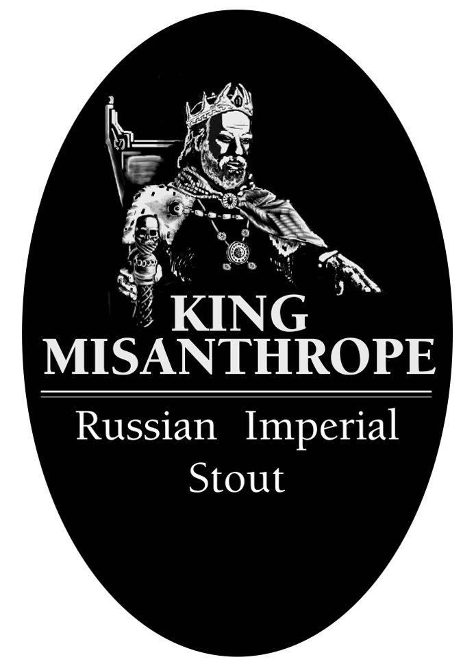 King Misanthrope Tap Handle Sticker