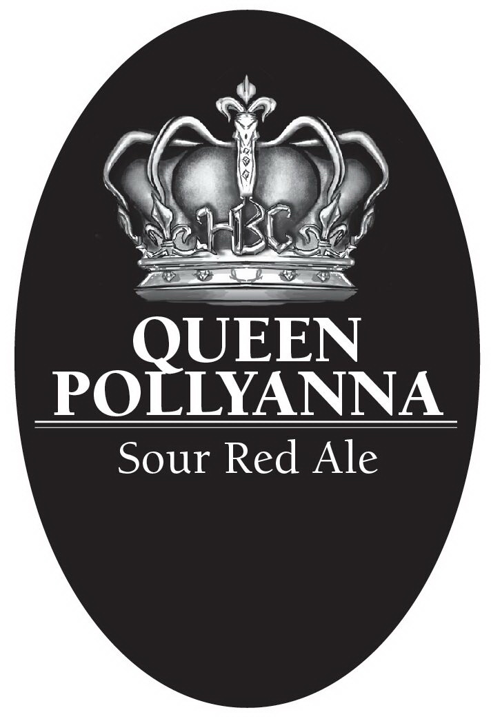 Queen Pollyanna Tap Handle Sticker