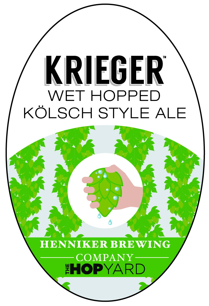 krieger tap handle sticker