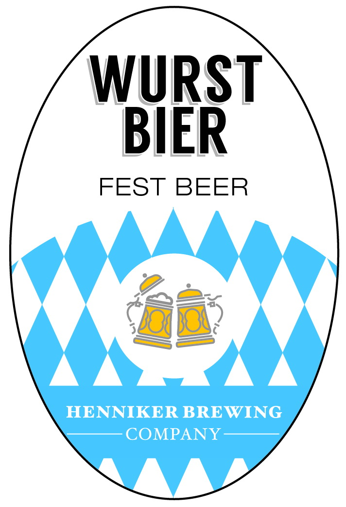 wurst bier tap handle sticker